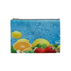 Fruit Water Bubble Lime Blue Cosmetic Bag (medium)  by Alisyart