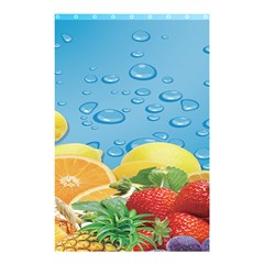 Fruit Water Bubble Lime Blue Shower Curtain 48  X 72  (small)  by Alisyart