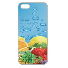 Fruit Water Bubble Lime Blue Apple Seamless Iphone 5 Case (clear) by Alisyart