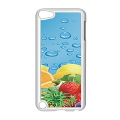 Fruit Water Bubble Lime Blue Apple Ipod Touch 5 Case (white) by Alisyart