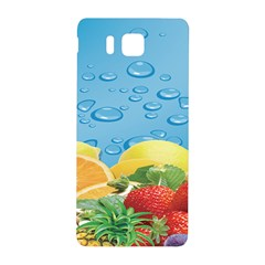 Fruit Water Bubble Lime Blue Samsung Galaxy Alpha Hardshell Back Case by Alisyart