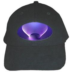 Lines Lights Space Blue Purple Black Cap by Alisyart