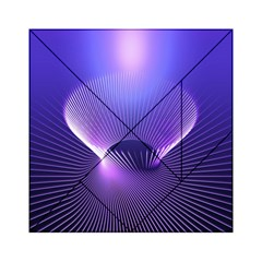 Lines Lights Space Blue Purple Acrylic Tangram Puzzle (6  X 6 ) by Alisyart