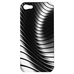Metallic Waves Apple Iphone 5 Hardshell Case by Alisyart