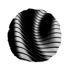 Metallic Waves Standard 15  Premium Round Cushions by Alisyart