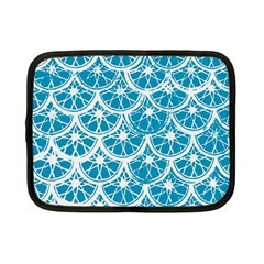 Lime Blue Star Circle Netbook Case (small)  by Alisyart