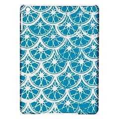 Lime Blue Star Circle Ipad Air Hardshell Cases by Alisyart