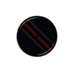 Material Design Stripes Line Red Blue Yellow Black Hat Clip Ball Marker (4 Pack) by Alisyart