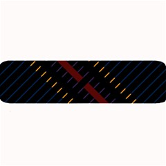 Material Design Stripes Line Red Blue Yellow Black Large Bar Mats by Alisyart
