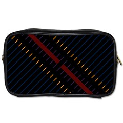 Material Design Stripes Line Red Blue Yellow Black Toiletries Bags 2 Side by Alisyart