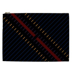 Material Design Stripes Line Red Blue Yellow Black Cosmetic Bag (xxl)  by Alisyart