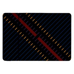 Material Design Stripes Line Red Blue Yellow Black Samsung Galaxy Tab 8 9  P7300 Flip Case by Alisyart