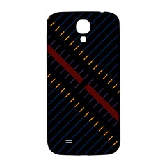Material Design Stripes Line Red Blue Yellow Black Samsung Galaxy S4 I9500/i9505  Hardshell Back Case by Alisyart