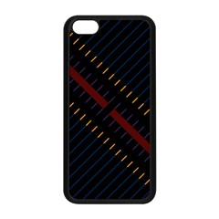 Material Design Stripes Line Red Blue Yellow Black Apple Iphone 5c Seamless Case (black) by Alisyart