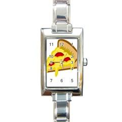 Pasta Salad Pizza Cheese Rectangle Italian Charm Watch by Alisyart