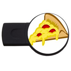 Pasta Salad Pizza Cheese Usb Flash Drive Round (4 Gb) by Alisyart