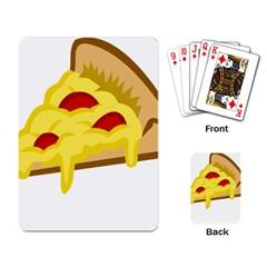 Pasta Salad Pizza Cheese Playing Card by Alisyart