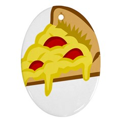 Pasta Salad Pizza Cheese Oval Ornament (two Sides) by Alisyart