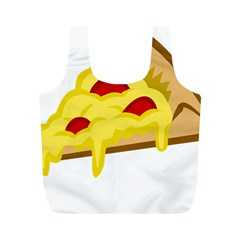 Pasta Salad Pizza Cheese Full Print Recycle Bags (m)  by Alisyart