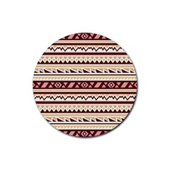 Pattern Tribal Triangle Rubber Coaster (round)  by Alisyart