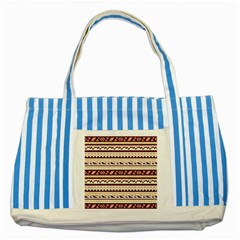Pattern Tribal Triangle Striped Blue Tote Bag by Alisyart