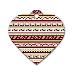 Pattern Tribal Triangle Dog Tag Heart (one Side) by Alisyart