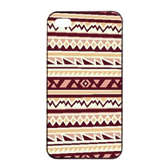 Pattern Tribal Triangle Apple Iphone 4/4s Seamless Case (black) by Alisyart