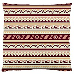 Pattern Tribal Triangle Large Cushion Case (two Sides) by Alisyart