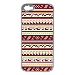 Pattern Tribal Triangle Apple Iphone 5 Case (silver) by Alisyart