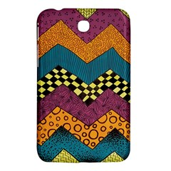 Painted Chevron Pattern Wave Rainbow Color Samsung Galaxy Tab 3 (7 ) P3200 Hardshell Case  by Alisyart