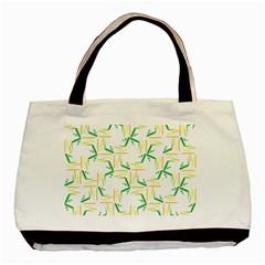 Patterns Boomerang Line Chevron Green Orange Yellow Basic Tote Bag by Alisyart