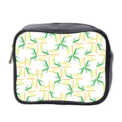 Patterns Boomerang Line Chevron Green Orange Yellow Mini Toiletries Bag 2 Side by Alisyart