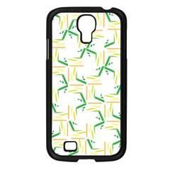 Patterns Boomerang Line Chevron Green Orange Yellow Samsung Galaxy S4 I9500/ I9505 Case (black) by Alisyart
