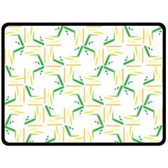 Patterns Boomerang Line Chevron Green Orange Yellow Double Sided Fleece Blanket (large)  by Alisyart