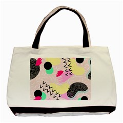 Pink Circle Red Pattern,sexy Basic Tote Bag (two Sides) by Alisyart