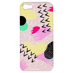 Pink Circle Red Pattern,sexy Apple Iphone 5 Hardshell Case by Alisyart