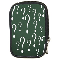 Question Mark White Green Think Compact Camera Cases by Alisyart