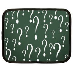 Question Mark White Green Think Netbook Case (xl)  by Alisyart