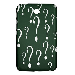 Question Mark White Green Think Samsung Galaxy Tab 3 (7 ) P3200 Hardshell Case  by Alisyart