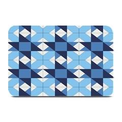 Radiating Star Repeat Blue Plate Mats by Alisyart