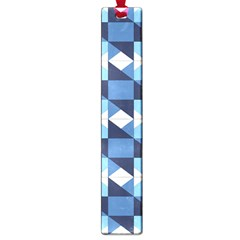 Radiating Star Repeat Blue Large Book Marks by Alisyart