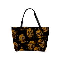 Sparkling Glitter Skulls Golden Shoulder Handbags by ImpressiveMoments