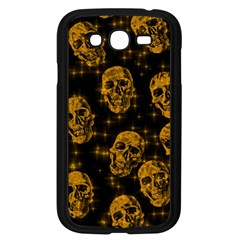 Sparkling Glitter Skulls Golden Samsung Galaxy Grand Duos I9082 Case (black) by ImpressiveMoments