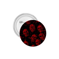 Sparkling Glitter Skulls Red 1 75  Buttons by ImpressiveMoments