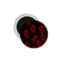 Sparkling Glitter Skulls Red 1 75  Magnets by ImpressiveMoments