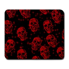 Sparkling Glitter Skulls Red Large Mousepads by ImpressiveMoments
