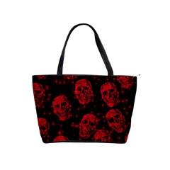 Sparkling Glitter Skulls Red Shoulder Handbags by ImpressiveMoments