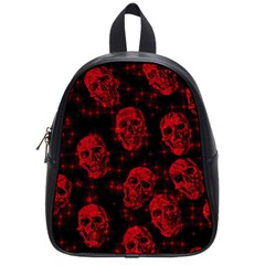Sparkling Glitter Skulls Red School Bags (small)  by ImpressiveMoments