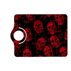 Sparkling Glitter Skulls Red Kindle Fire Hd (2013) Flip 360 Case by ImpressiveMoments