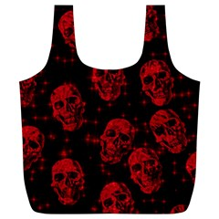 Sparkling Glitter Skulls Red Full Print Recycle Bags (l)  by ImpressiveMoments